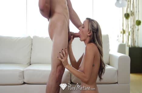 Зрелая красотка Pristine Edge получает оргазм от секса #6