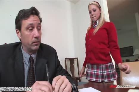 Непослушная студентка Shawna Lenee была наказана жестким сексом #1