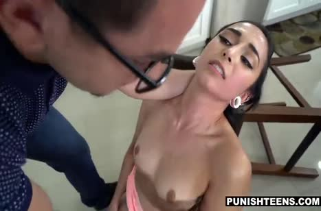 Молодая брюнетка была наказана жестким БДСМ сексом #3