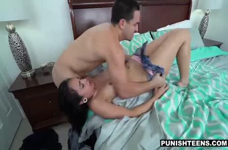 Молодая брюнетка была наказана жестким БДСМ сексом #4
